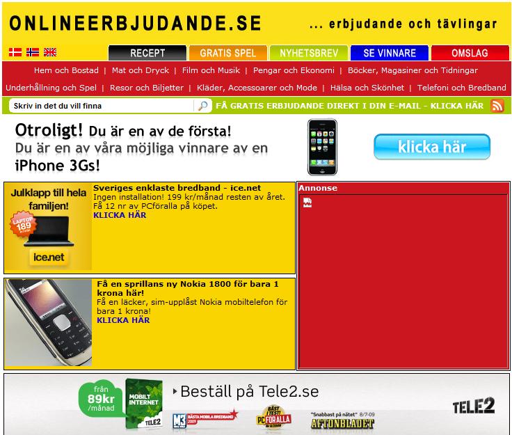 OnlineErbjudande.se